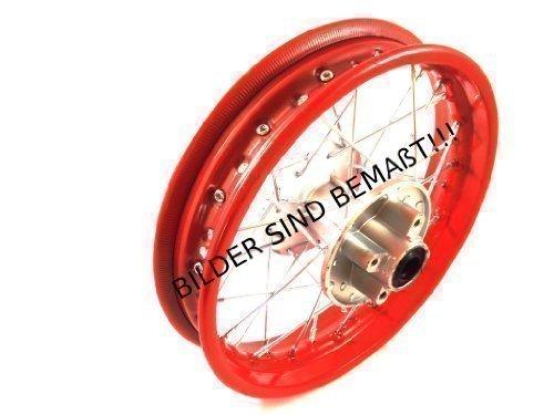 HMParts – Llanta de acero trasera para moto de cross, 1,85x 12pulgadas, color rojo