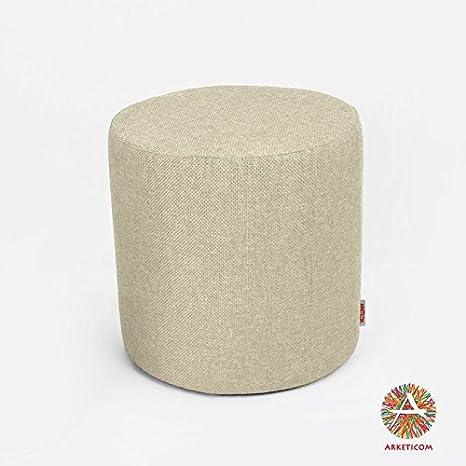 Pouf Poggiapiedi.Arketicom Cylinder Pouf Poggiapiedi Salotto Rotondo Puff Design Cm