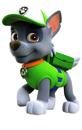 7 Inch Rocky Paw Patrol Pup Wall Decal Sticker Pups Puppy Puppies Dog Dogs Removable Peel Self Stick Adhesive Vinyl Decorative Art Kids Room Home Decor Children 5 x 7 inches