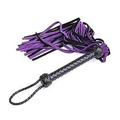 Premium BDSM Whip Genuine Leather Flogge...