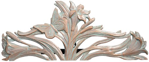 Whitehall Products Butterfly Hose Holder, Copper Verdi (Butterfly Hose Holder)