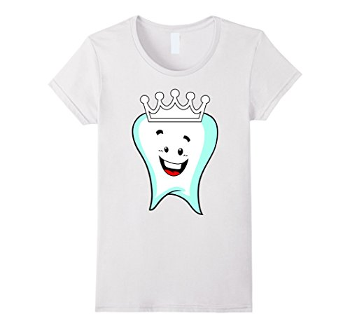 Molar Costumes (Womens Tooth Fairy Cute Halloween Costume T-Shirt loose teeth molar Small White)