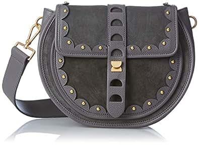 COCCINELLE - Carousel Suede E1 Co2 12 01 01, Shoppers y bolsos de hombro Mujer, Gris (Fume), 7x20x20.5 cm (B x H T)