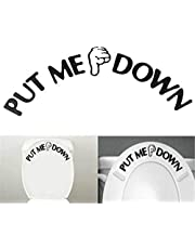 Toilet Sticker, Put Me Down Sign Decal Bathroom Toilet Seat Sticker Comfortable and EnvironmentallySkillful processing