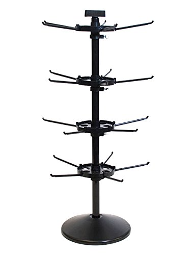 KC Store Fixtures 24307 Counter Rack Spinner, 4 Tier, 28.5
