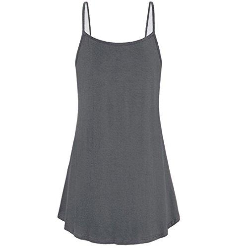Pure Chemisier Gris Manches Sans Boutons Tops Gilet Promotion Dbardeur Shirt Femme Couleur Crop Vest Camisole t Neck Saisonnire Lady V T Debardeur qqFRpPw