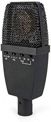 大ダイヤフラムコンデンサーマイク4種類の調整可能なK曲録音マイク、黒