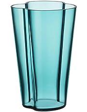 Iittala Alvar Aalto Vase Glass Sea Blue 220 mm