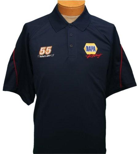 NEW!! Men's NASCAR Racing Polo Shirt - Napa Racing - Michael Waltrip 55 - 2XL (Racing Polo Mens)