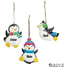 Resin Penguin Ornaments Christmas Holidays (12 pcs)