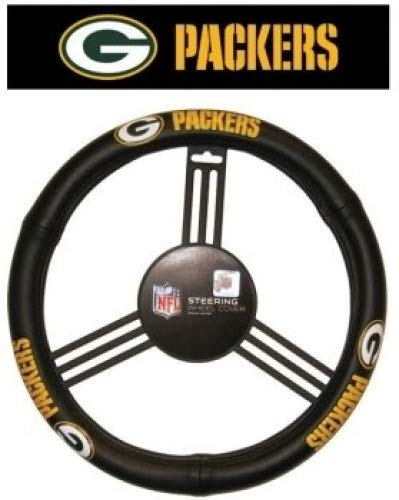 Green Bay Packers Leather Steering Wheel Cover