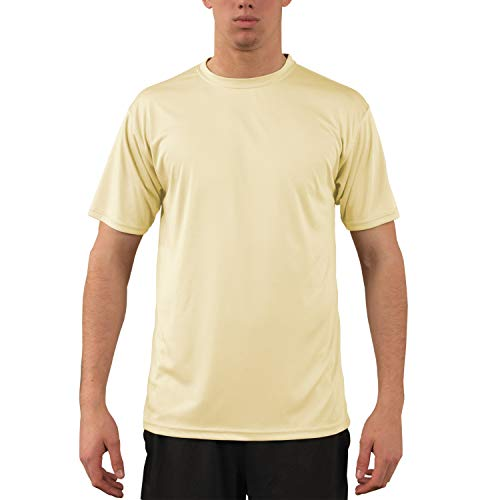 Vapor Apparel Men's UPF 50+ UV Sun Protection Performance Short Sleeve T-Shirt XXX-Large Pale Yellow (Pale Yellow Fabric)