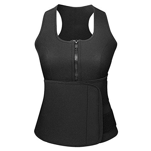 Odoland Women Sauna Suit, Best Neoprene Waist Trainer Body Shaper Sauna Vest with Hot Sweat Belt for Weight Loss, Versatile for Cycling, Gymnastics & Other Bodybuilding Exercises (Size M)