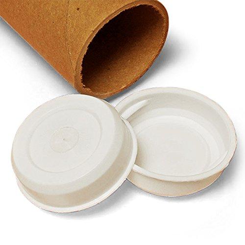 Plastic Tube Ends for Cardboard Tubes 2 1/2'' | Diameter - 2 1/2''