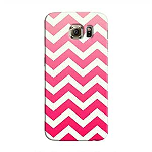 Cover It Up - Red Jagged Galaxy S6 EdgeHard Case