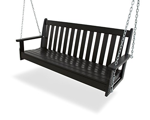 "POLYWOOD GNS60BL Vineyard 60"" Swing, Black"
