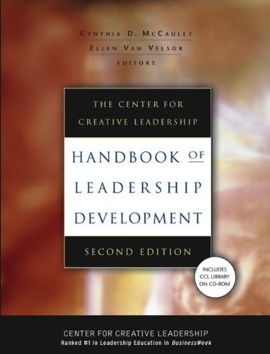 The Center for Creative Leadership Handbook of Leadership Development