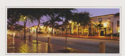 28732 TWILIGHT IN SANTA BARBARA POSTCARD .. from Hibiscus Express