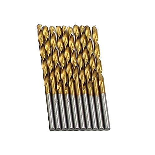 GrmeisLemc Drill 50Pcs/Set Straight Shank High Speed Steel Titanium-plated Drill Bits Accessoires by GrmeisLemc (Image #1)