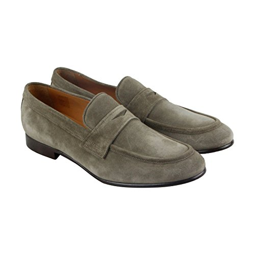 Frye Aiden Penny Mens Casual In Camoscio Beige, Slip On Oxfords Shoes
