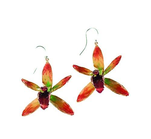Michael Michaud Banana Split Orchid Hanging Earrings - Orchid Drop Pendant