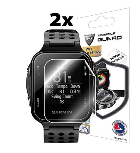 for Garmin Approach S20 Golf Watch (2X) Smartwatch Screen Protector Invisible Ultra HD Clear Film Anti Scratch Skin Guard - Smooth/Self-Healing/Bubble -Free by IPG