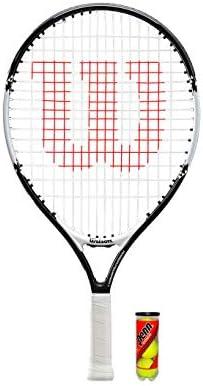 19,21,23,25 y 26 Wilson Raqueta de Tenis Federer Junior 3 Pelotas de Tenis