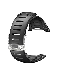 Suunto Core Wrist-Top Computer Watch Replacement Strap (Black, Elastomer)