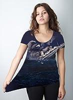 Slothberg Womens Graphic T Shirt Sloth Titanic Tee Funny Shirts