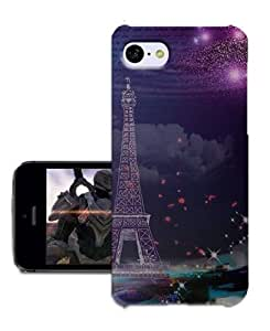 BIOIPHONECASE Starry Sky Eiffel Tower Phone Cover For Iphone 5c