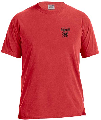 NCAA Maryland Terrapins Adult Unisex NCAA Limited Edition Comfort Color Short sleeve T-Shirt,Large,Red
