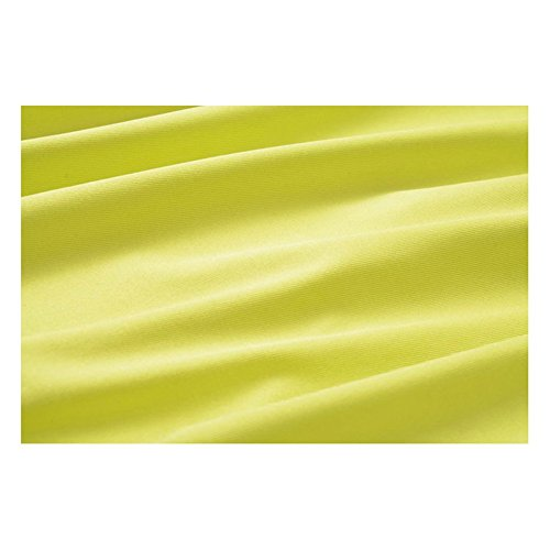 robe a echarpe fine - SODIAL(R) Nouveau femmes robe a echarpe fine Ourlet irregulier Drape Maxi ROBE pour la fete plage Boho Sundress sans Ceinture Jaune fluorescente XL
