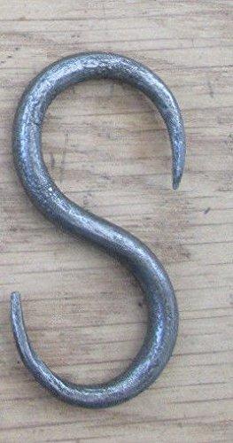 Ironmongery World hierro antiguo Tamaño pequeño hierro envejecido Vintage onestopdiy carne Chopping Boards Beam gancho tendedero para colgar sartenes de ...