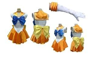 Sailor Venus Mina Style Cosplay Costume [ XL Size for Women ] Japanese Anime