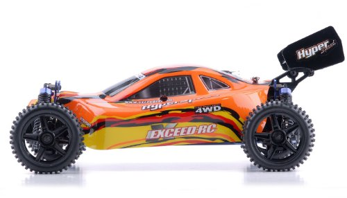 Nitro Gas Powered Buggy - 1/10 2.4Ghz Exceed RC Beginner Version .16 Engine Nitro Powered Off Road Buggy Baha Red (OR NEXT AVAILABLE COLOR SENT AT RANDOM)