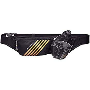Nathan NS4523 Swift Plus Running Hydration Pack Fitness Running Belt with 10oz Flask, Black, One Size