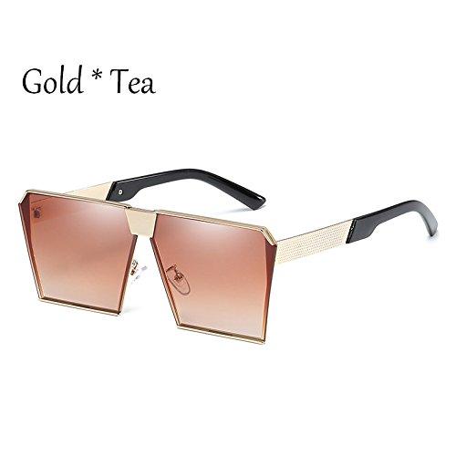Gafas C4 De Vintage Estilos De Silver Gafas C2 Cuadradas Unas Gold Damas Enormes Sol Tonos Uv356 Hombre Sol G Tea TIANLIANG04 17 Silver Mujer AWqOE1nxqF