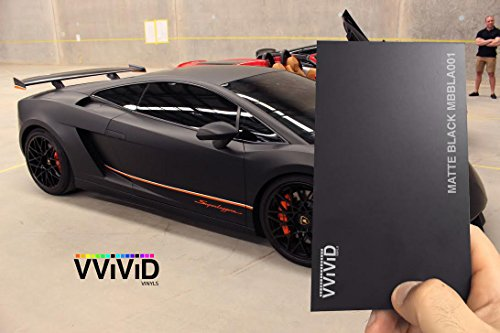 VViViD Black Matte 60'' x 15ft Car Wrap Vinyl Roll for Medium Sized Applications by VViViD (Image #3)