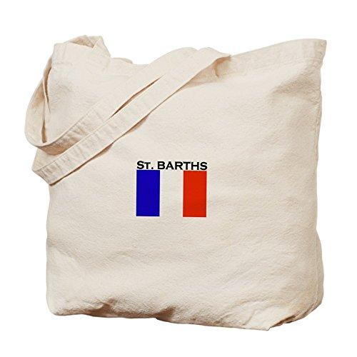 CafePress–St Barths bandera–Gamuza de bolsa de lona bolsa, bolsa de la compra