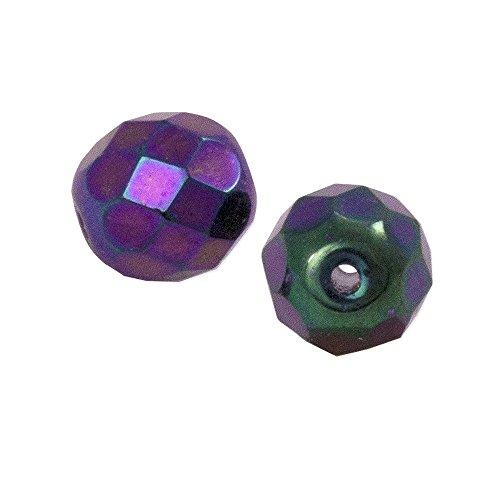 Czech Fire Polished Rounds 6mm Purple Iris (Package of 10)