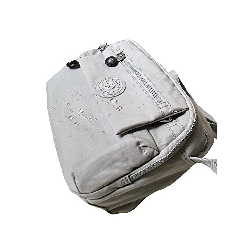 Women Grey Medium Travel Bags in Pockets Crossbody with for Durable Nylon x0xrSn