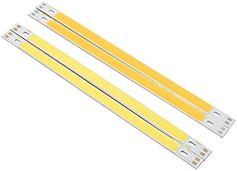 Amazon Com 2pcs Slim Cob Led Strip Light 10w 12 24v Pure Warm White 1000lm Bulb For Diy Table Lamp Pure White Home Improvement