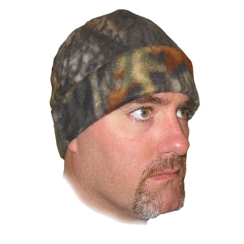 Heat Factory Fleece Beanie Hat with Heat Warmer Pockets, Mossy Oak (Skull Beanie Ski Snowboard Cap)