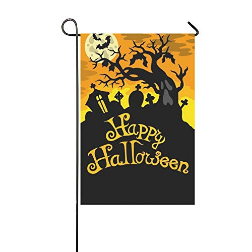 WBSNDB Home Decorative Outdoor Double Sided Happy Halloween Theme 6 Garden Flag,House Yard Flag,Garden Yard Decorations,Seasonal Welcome Outdoor Flag 12 X 18 Inch Spring Summer Gift -