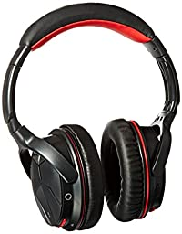 AUSDOM M04 NFC Wireless Bluetooth 4.0 Stereo Over-ear Wired + Wireless Headphones with Built-in Microphone, Black & Red