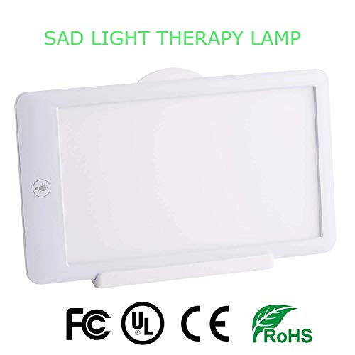 Light Therapy Lamp 10000 Lux One Touch Dimmable Light Box Simulate Bright Natural Sunshine Happy Mood