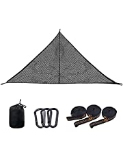 Camping Hammock, Portable Triangle Hammock, Breathable, Small Storage Volume, Convenient to Carry, Suitable for: Travel, Beach, Backyard Color: Black