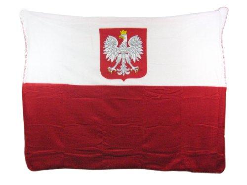 Polish White Eagle Fleece Throw Blanket Poland Coat Of Arms (Poland Arms)