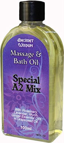 Aromatherapy Wisdom (FUTURE INSIGHTS 100ml pure Essential Oil Aromatherapy MASSAGE OIL & BATH OIL Special A2 Mix (ROSEMARY, LAVENDER & MYRRH) by Ancient Wisdom)