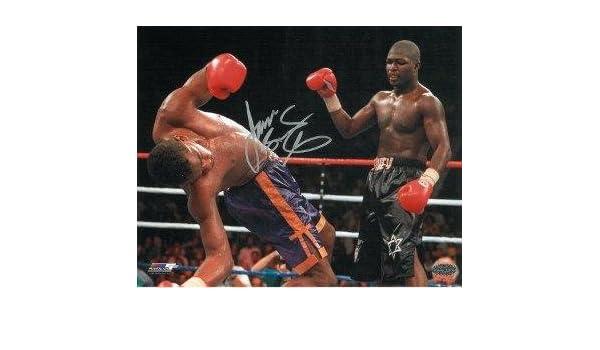 "JAMES /""LIGHTS OUT/"" TONEY Signed Autograph Auto 8x10 Boxing Picture Photo W//COA"